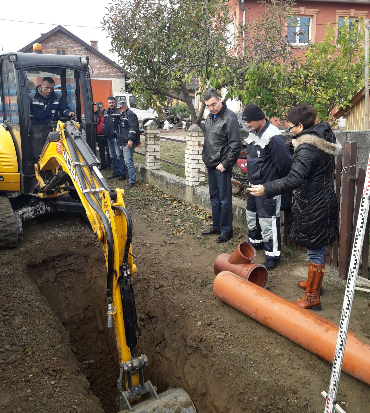 Изградња канализационе мреже  у Луке Јовановића