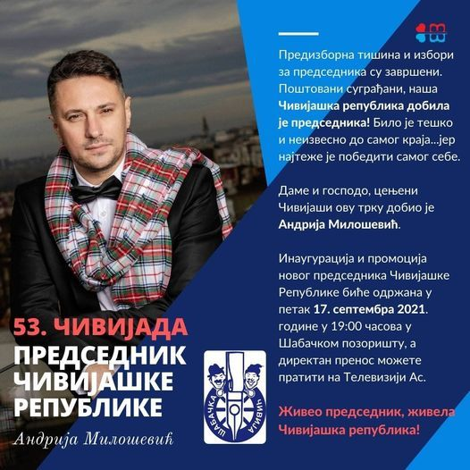 Andrija Milošević novi predsednik Čivijaške republike