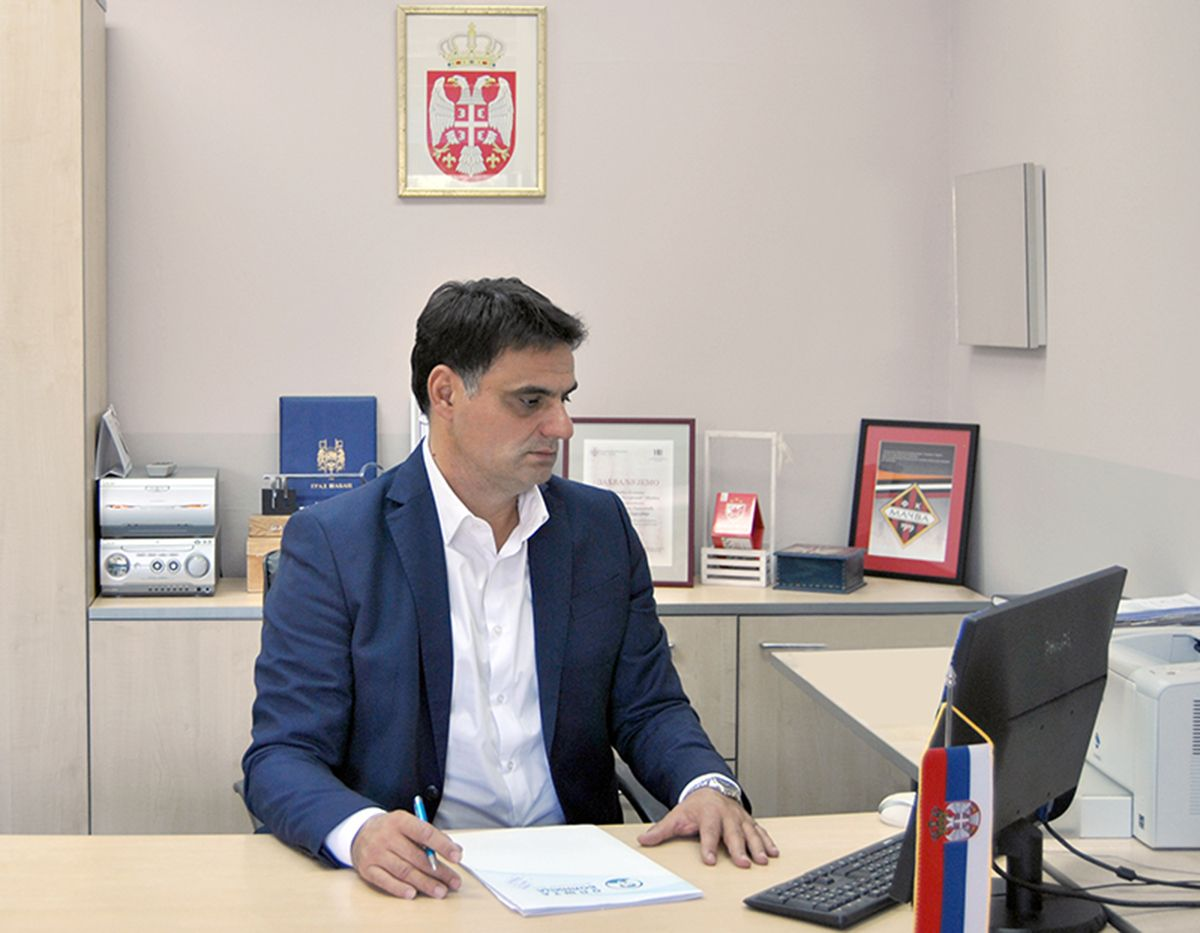 "Direktor OB ""Dr Laza K. Lazarević"" dr Slobodan Popović"