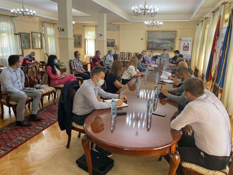 Foto: Gradska uprava / sednica Kriznog štaba za vanredne situacije grada Šapca