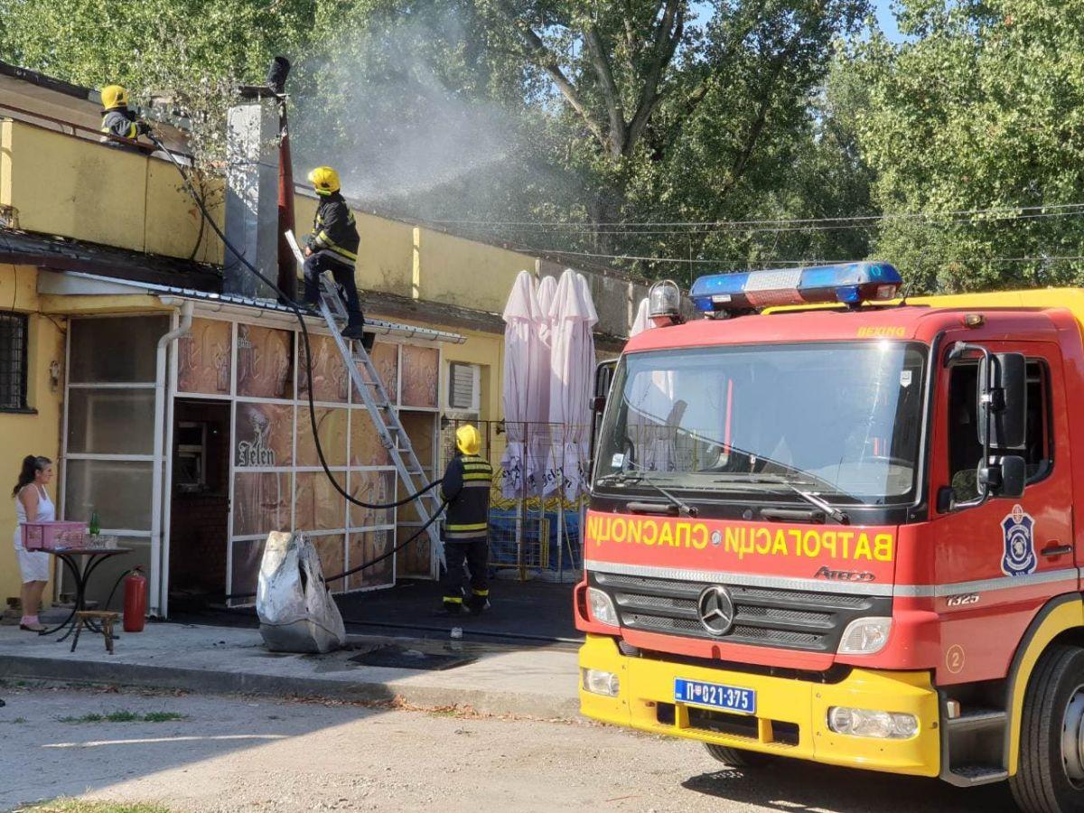 Požar u restoranu Bokserskog kluba na Starom gradu