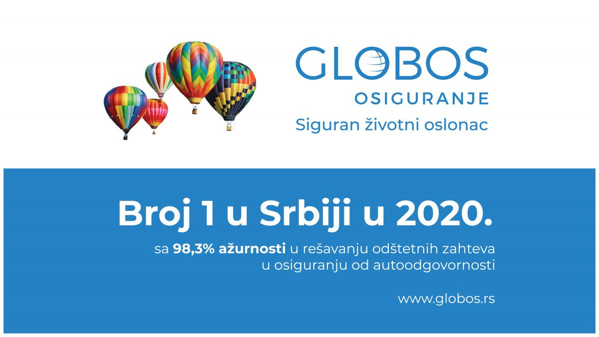 Глобос осигурање је број 1 на српском тржишу у ажурности решавања одштетних захтева у аутоодговорности