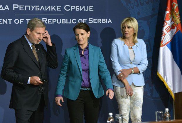 Хан и Брнабић о приступу Србије ЕУ