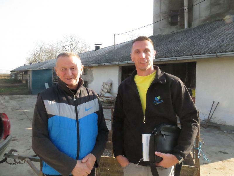 Milenko Ostojić i Aleksandar Popović menadžer prodaje kompanije De Heus, specijalista za ishranu svinja