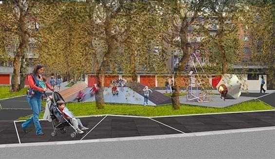 Foto: budući izgled centra Benske bare