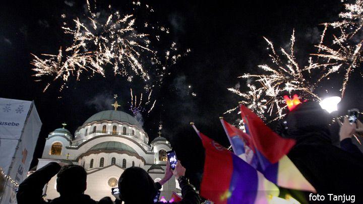 Doček srpske Nove i molitva za srpske svetinje