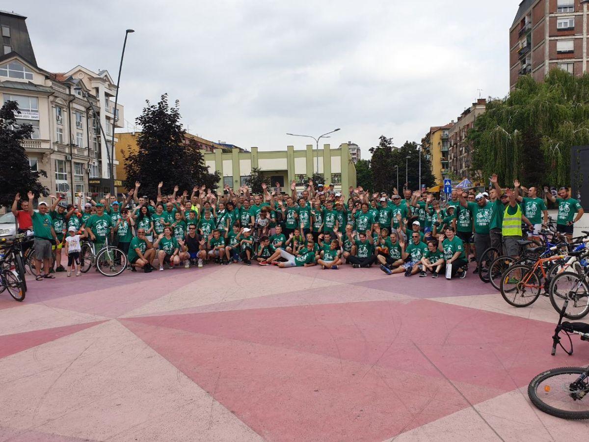 Zelena biciklijada: Šapčani složno do humanog cilja