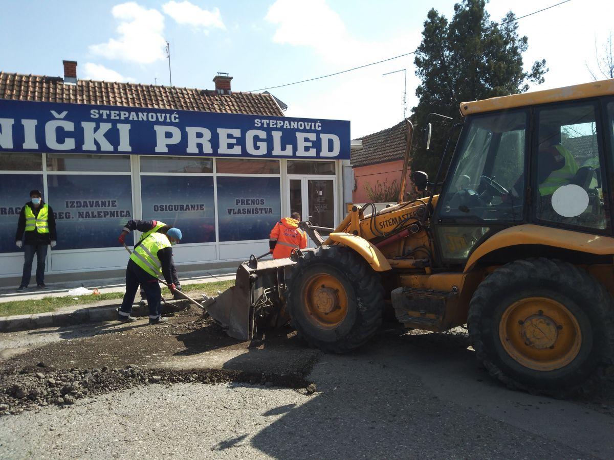 Реконструкција коловоза у улици Милутина Бојића