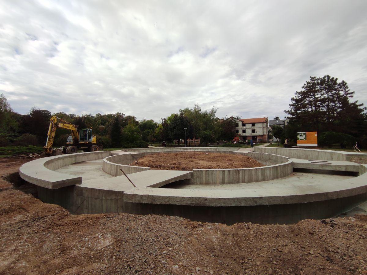 У току радови на изградњи нове фонтане у Великом парку