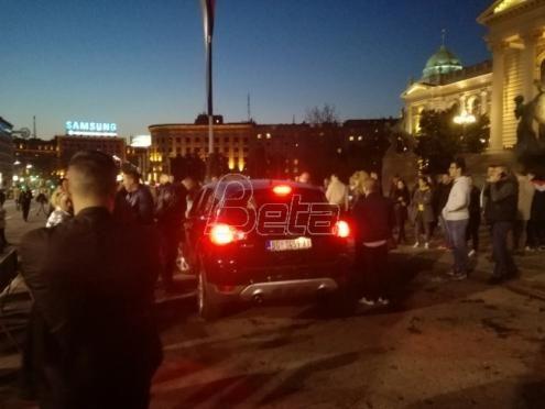Manji incident nakon protesta u Beogradu