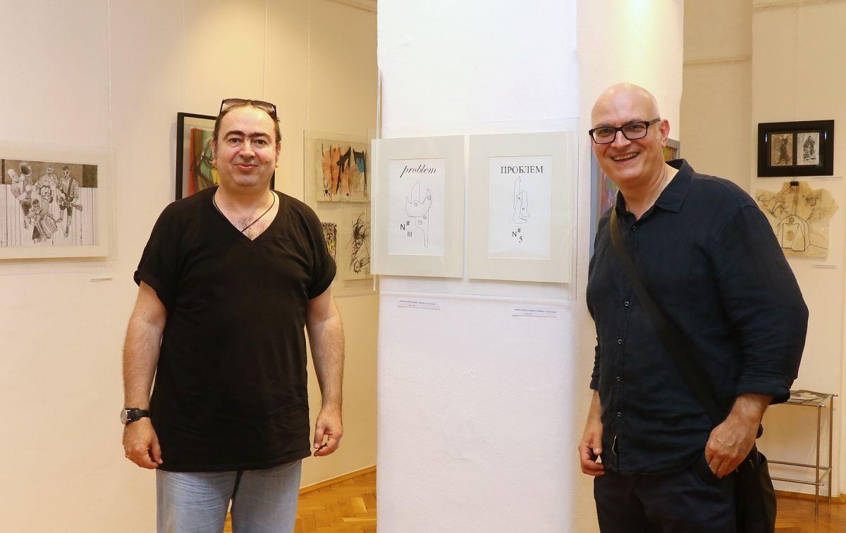 Foto: Glas Podrinja- nagrađeni umetnici Nebojša Milošević i Aleksandar Mladenović Leka