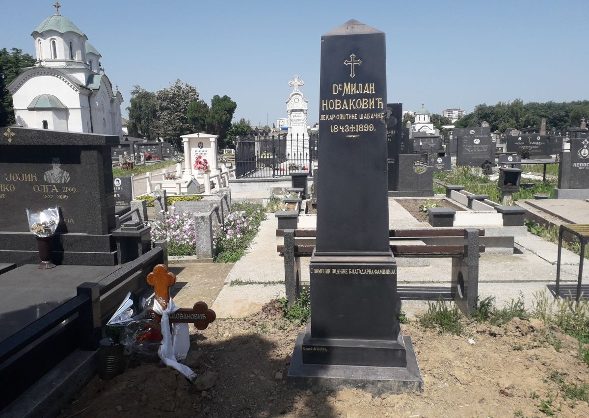 Обновљен споменик др Милану Новаковићу