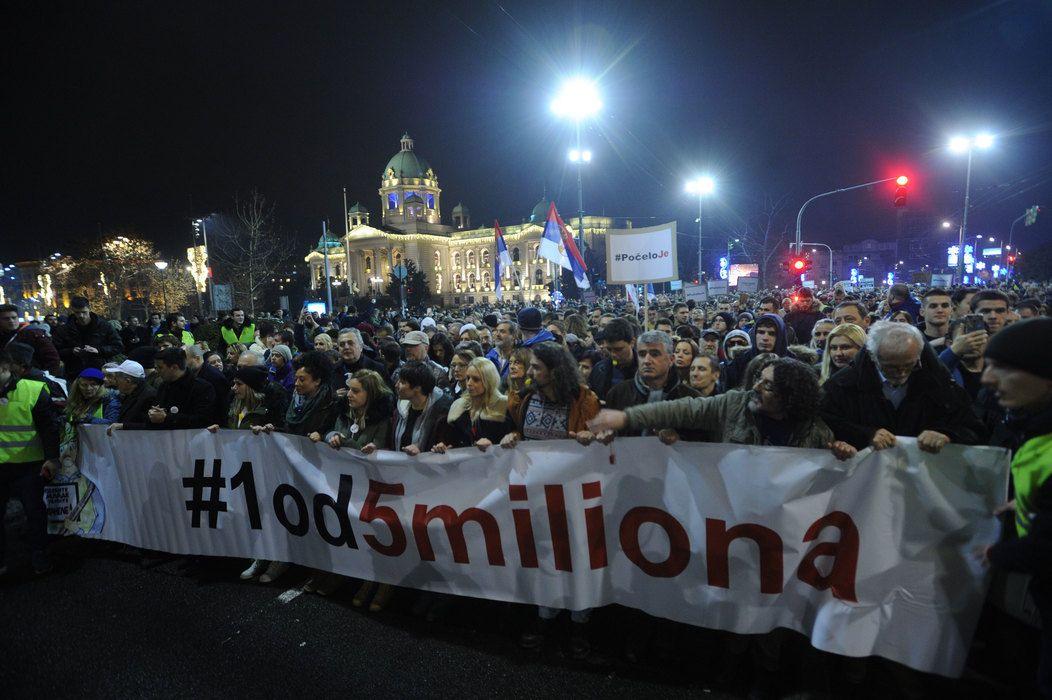 """Сутра у Шапцу протест """"1 од 5 милиона"""""""