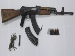 Automatska puška  u podrumu