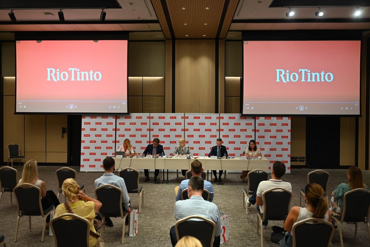 Фото: Рио Тинто пресс служба / Конференција за медије Београд
