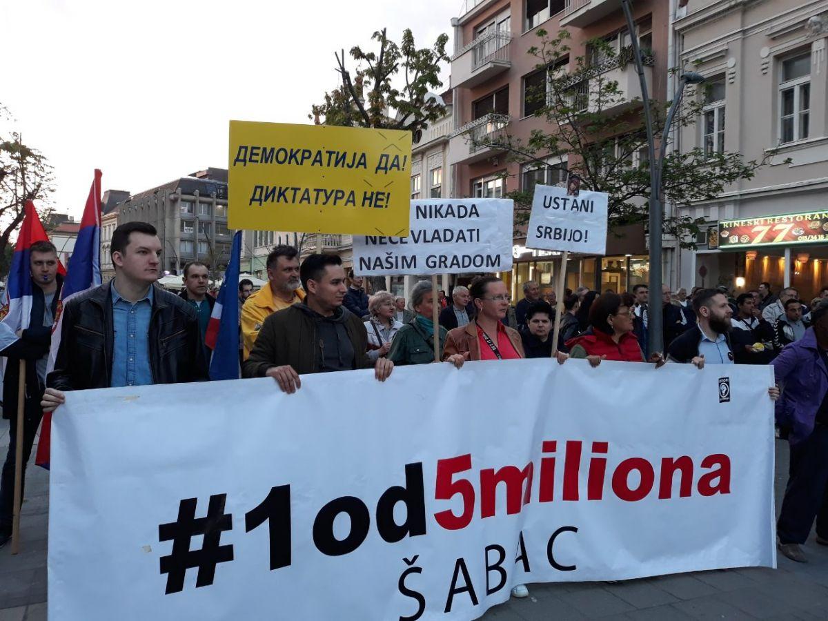 """Protesti """"1 od 5 miliona"""" održani u Užicu, Valjevu, Nišu i Šapcu"""