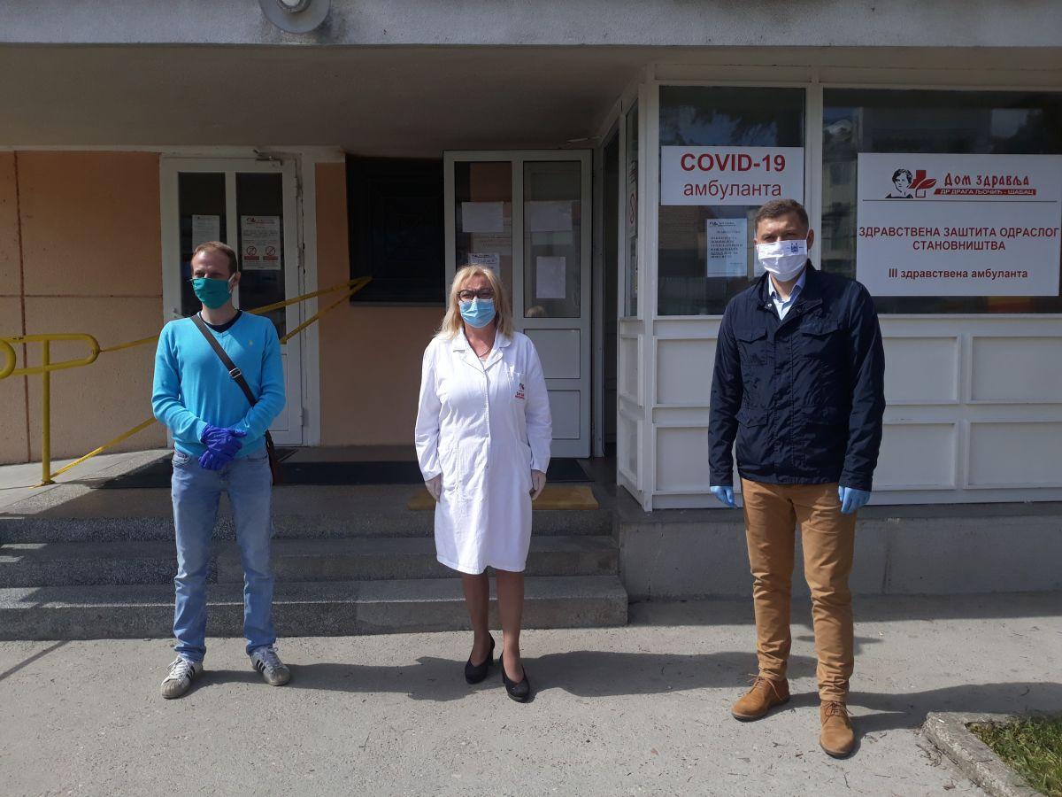 Danas postavljen dezinfekcioni tunel u Kovid ambulanti u Šapcu