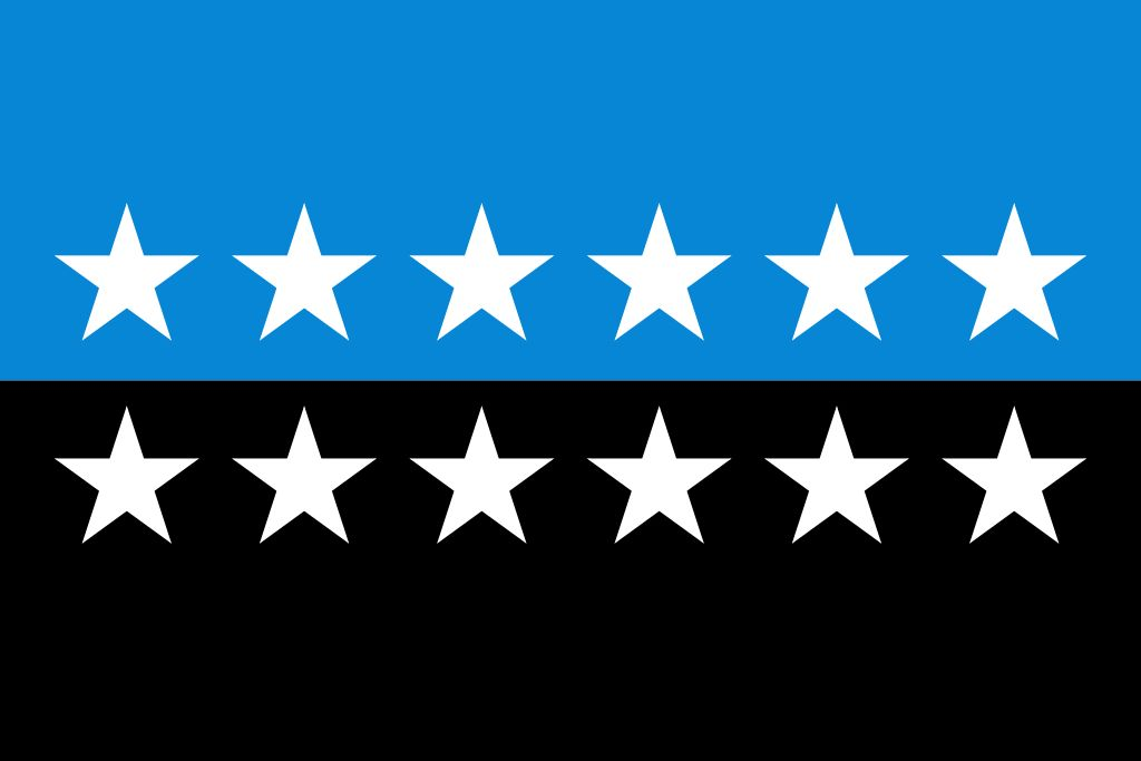Аутор: SVGised by Holek (разговор · доприноси) - Image:Flag of the European Coal and Steel Community 12 Star Version.png, Јавно власништво, https://commons.wikimedia.org/w/index.php?curid=3609633