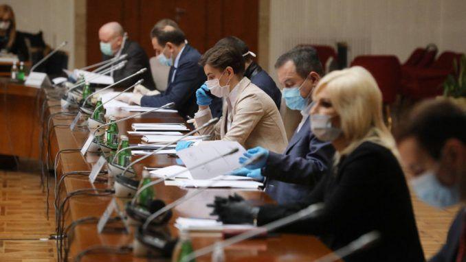 Vlada Srbije usvojila meru zabrane kretanja od petka do ponedeljka