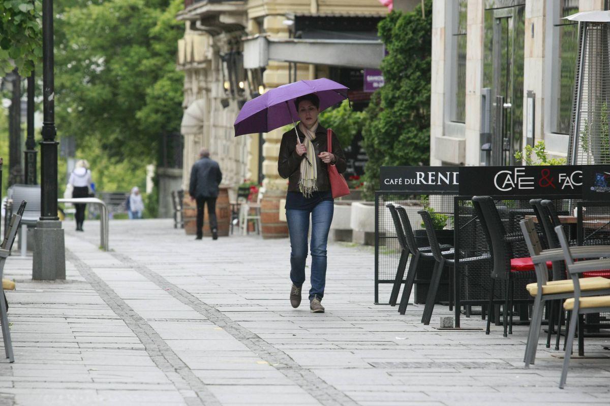 U Srbiji danas relativno toplo vreme, ponegde sa kišom