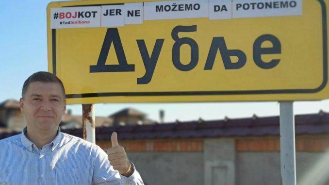 Zelenović nastavio bojkot kampanju u Dublju