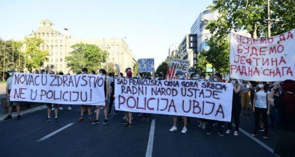 Počeo protest u Beogradu