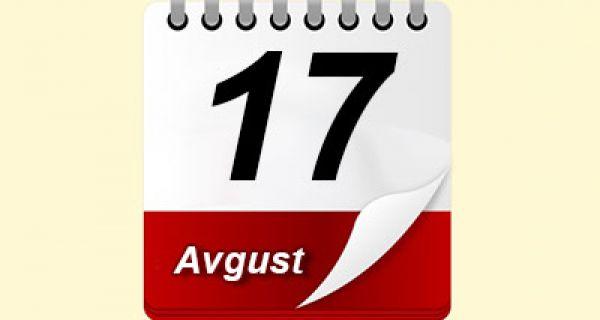Na današnji dan, 17. avgust