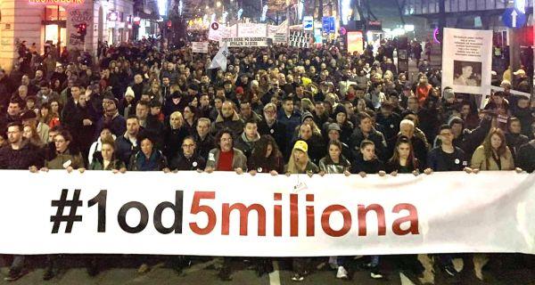 Данас 17. протетс у Београду
