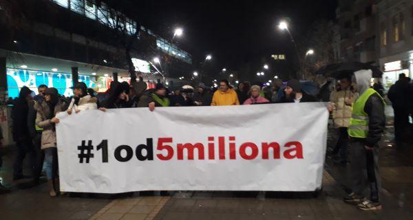 Шабац се вечерас прикључио протестима
