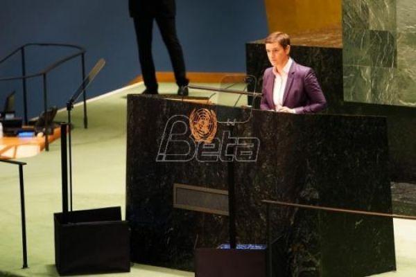 Premijerka Srbije u UN : Priština rasplamsala veliku krizu