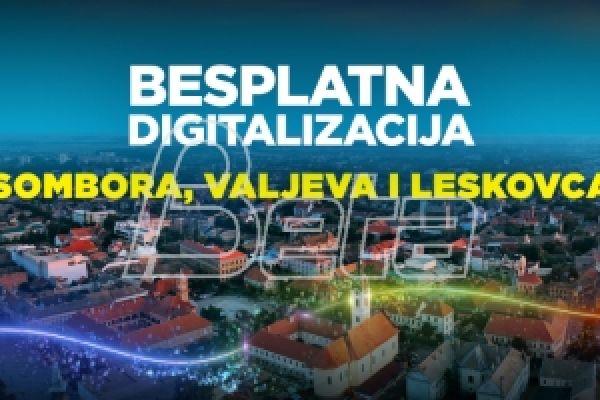 SBB почиње дигитализацију Сомбора, Ваљева и Лесковца