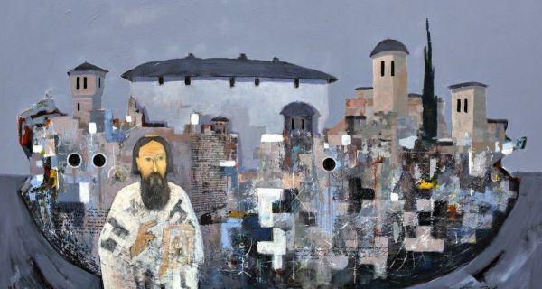 """Слика Драгана Бартуле део изложбе """"Свети Сава, Светогорац и Хиландарац"""""""