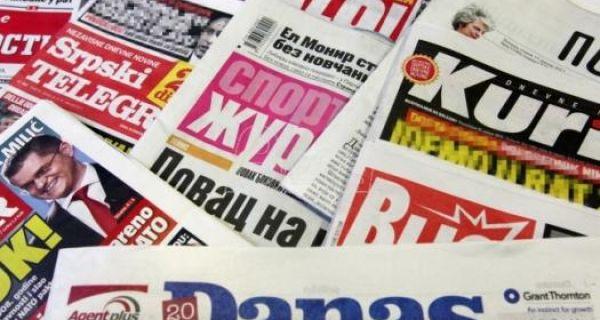 Naslovne strane za sredu, 26. februar