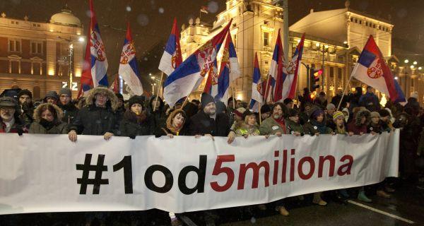 """У петак у Шапцу протест """"1 од 5 милиона"""""""