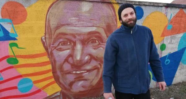 Како сам насликао мурал Шабана Шаулића у његовом родном Шапцу