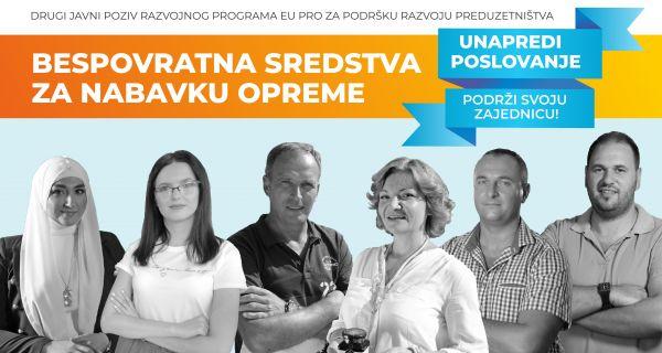 EU PRO predstavlja poziv za dodelu bespovratnih sredstava preduzetnicima, mikro i malim preduzećima u Šapcu 15. oktobra
