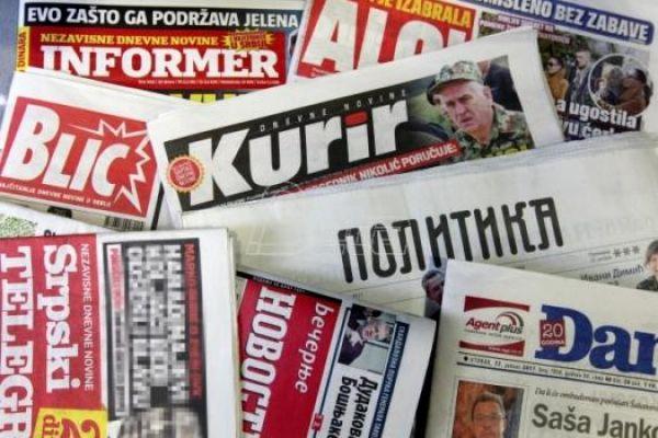 Београдска штампа испуњена различитим темама