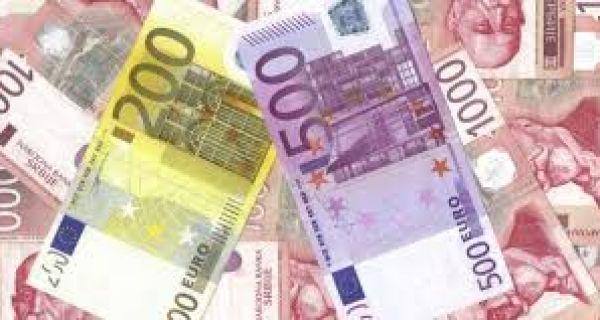 Евро данас 118,24 динара