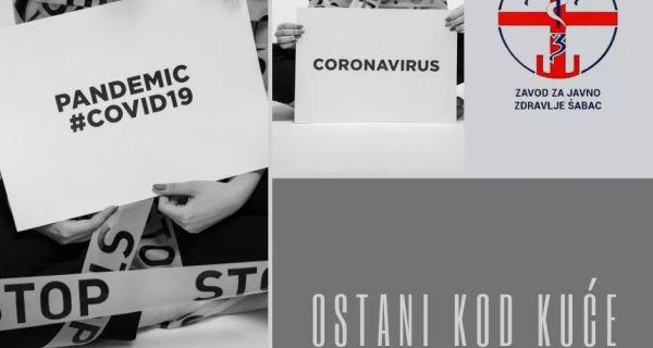 U Mačvanskom okrugu registrovana su 3 potvrđena slučaja  Kovid -19.
