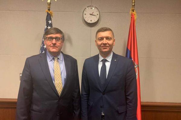 Небојша Зеленовић данас на састанку са Метјуом Палмером