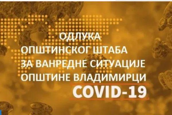 U Vladimircima zabranjen rad ugostiteljskim objektima, kladionicama i frizerskim salonima