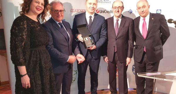 Награда Коморе италијанско-српских привредника за Шабац