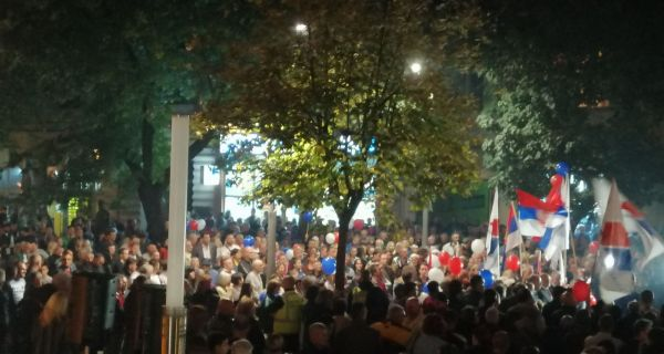 Стоти протест СНС у Шапцу