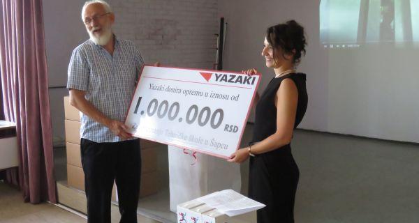 Јазаки: Техничкој школи опрема у вредности милион динара