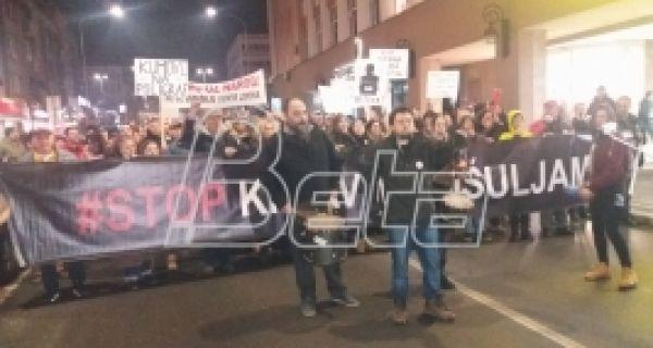 Протест у Крушевцу: Борба неће бити кратка, видјаћемо се на трговима