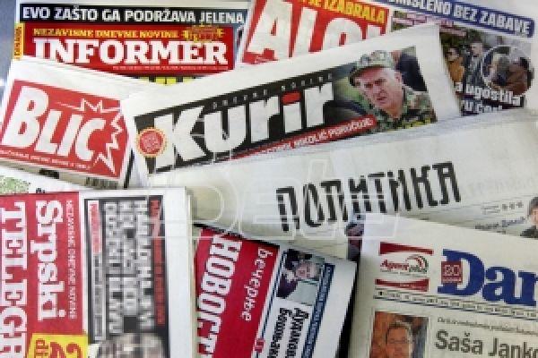Naslovne strane beogradskih listova