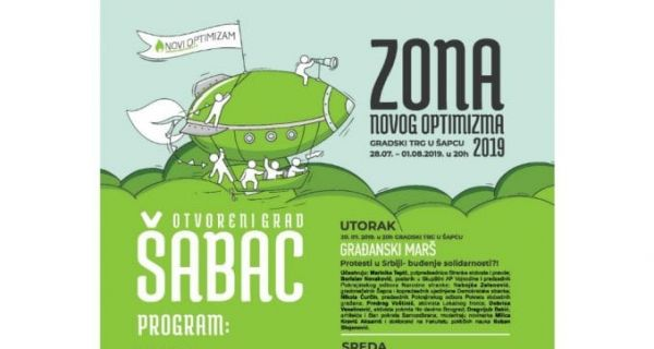 Zona Novog Optimizma i ovog leta u Šapcu