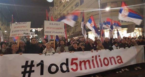 Протест 1 од 5 милиона у више градова