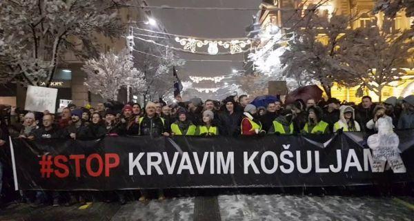 Организатори протеста Стоп крвавим кошуљама послали отворено писмо Вучићу