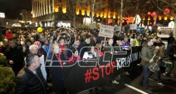 Одржана протестна шетња у Београду без инцидената и страначких обележја